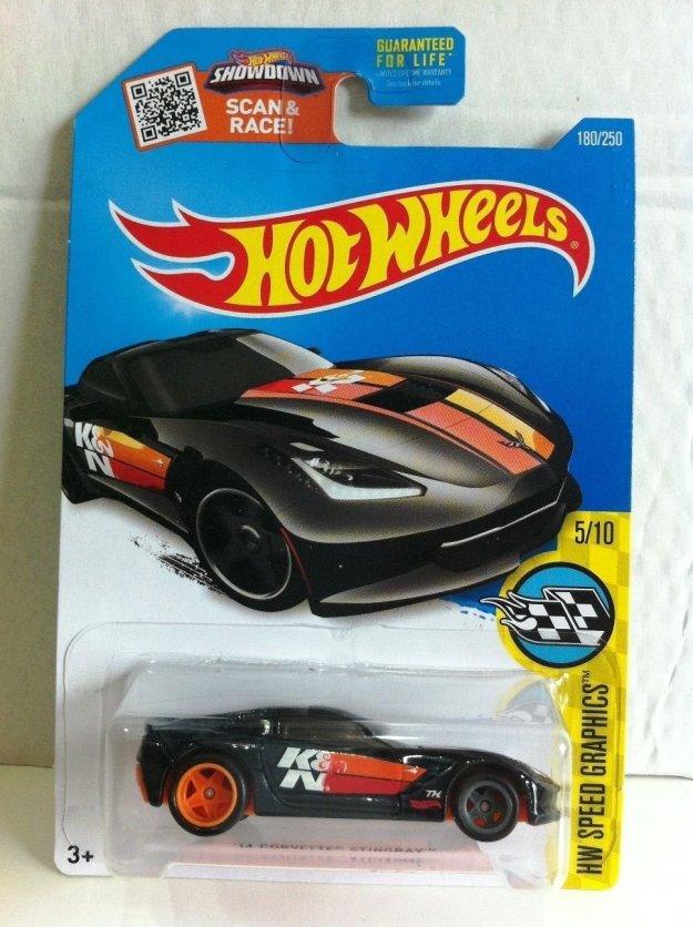 2016 Hot Wheels Super Treasure Hunt '14 Corvette Stingray Diecast Car