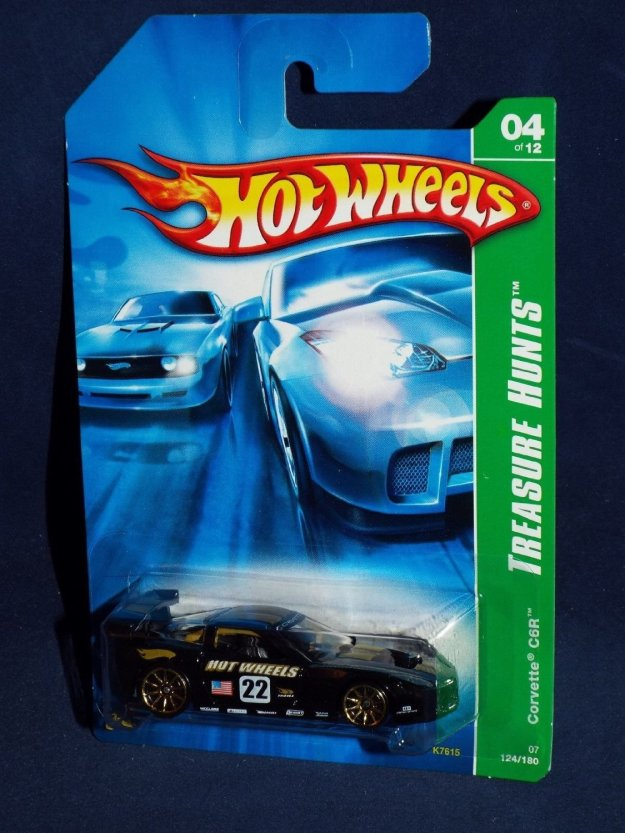 2007 Hot Wheels Regular Treasure Hunt 4/12 - Chevrolet Corvette C6.R