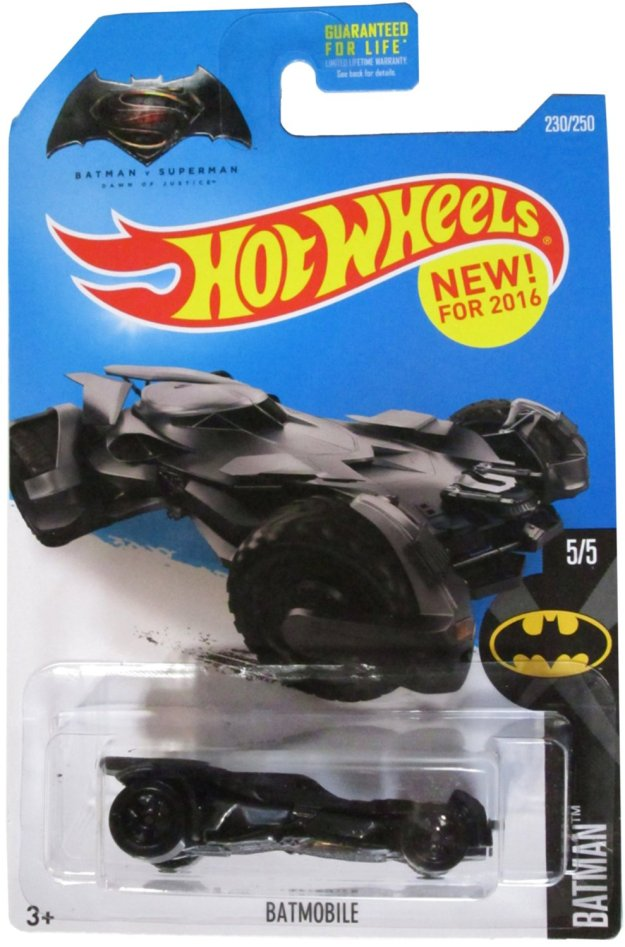 Hot Wheels 2016 Batman vs. Superman: Dawn of Justice Batmobile Diecast Car