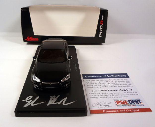 Elon Musk Signed Model S Tesla Diecast Car PSA/DNA COA