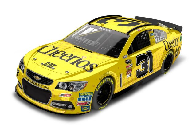 Jeff Burton #31 Cheerios 2013 Chevy SS NASCAR Diecast Car, 1:24 Scale HOTO by Lionel Racing