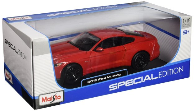 2015 Ford Mustang GT 5.0 Red 1/18 by Maisto