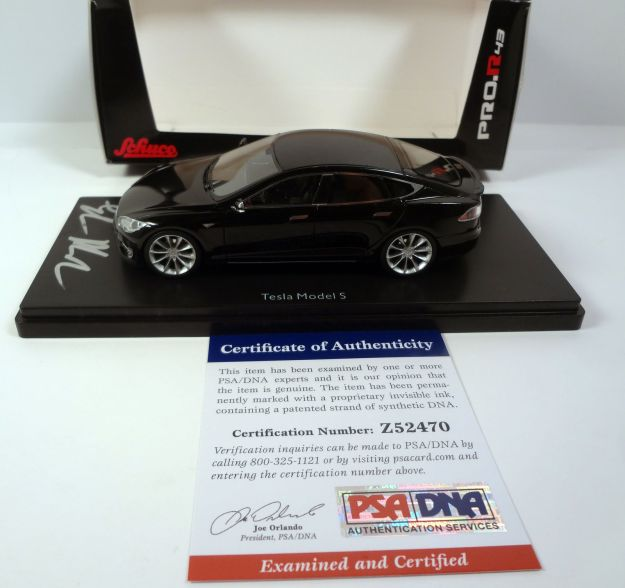 Elon Musk Signed Model Tesla Diecast Car PSA/DNA COA