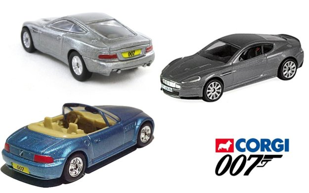 James Bond Set Quantum of Solace DBS + Aston Martin Vanquish Die Another Day & Goldeneye BMW Z3 Roadster 3 Car 007 Corgi Set