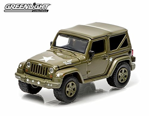"""Greenlight 2014 Jeep Wrangler """"US Army"""" 1:64 Scale"""