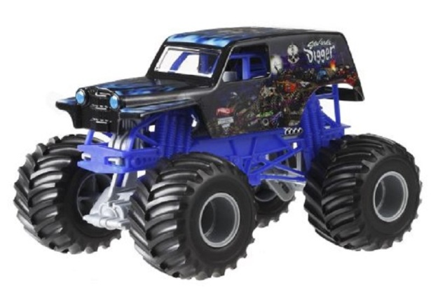 Hot Wheels Monster Jam Son Uva Digger Die-Cast Vehicle 1:24 Scale