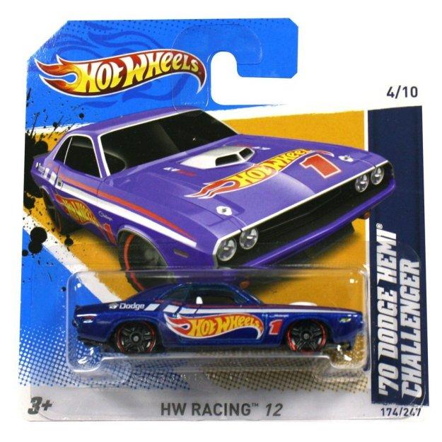 Hotwheels Diecast Car '70 Dodge Hemi Challenger