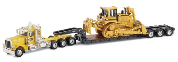 Peterbilt 389 with Trail King Lowboy Trailer with Cat D8R load 1:50 scale by Norscot