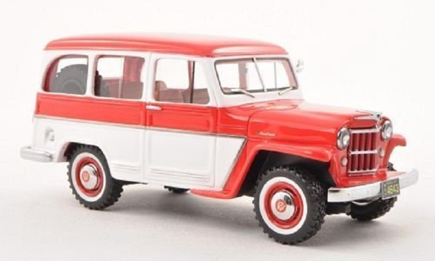 1954 Willys Jeep Station Wagon Diecast Cars