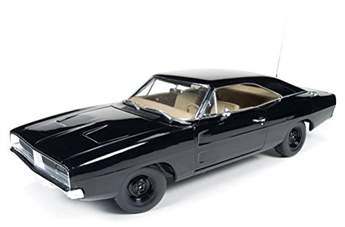 1969 Dodge Charger Black Happy Birthday General Lee 1/18 Diecast Car by Autoworld