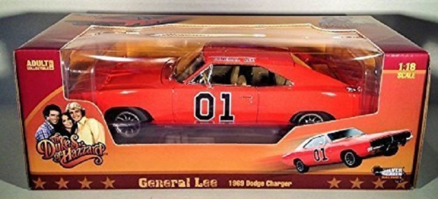 The Dukes Of Hazzard General Lee 1969 Dodge Charger 1:18 Diecast Car by Auto World
