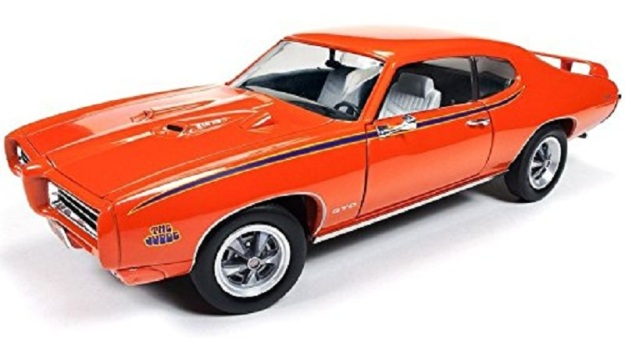 1969 Pontiac GTO Judge Orange Limited Edition Diecast Car by Autoworld