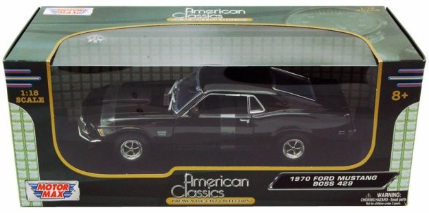 1970 Ford Mustang Boss 429 1/18 scale Diecast Model Car by Motor Max