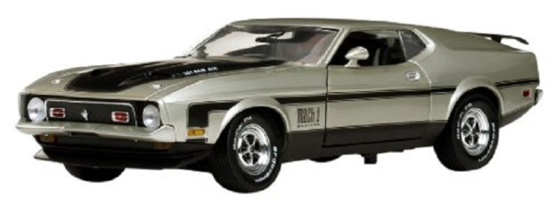 1971 Ford Mustang Mach 1 Light Pewter 1/18 by Sunstar