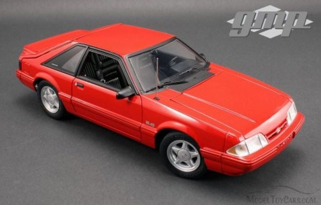 1993 Ford Mustang LX Hard Top Vermillion Red 1/18 Scale Diecast Car by Greenlight