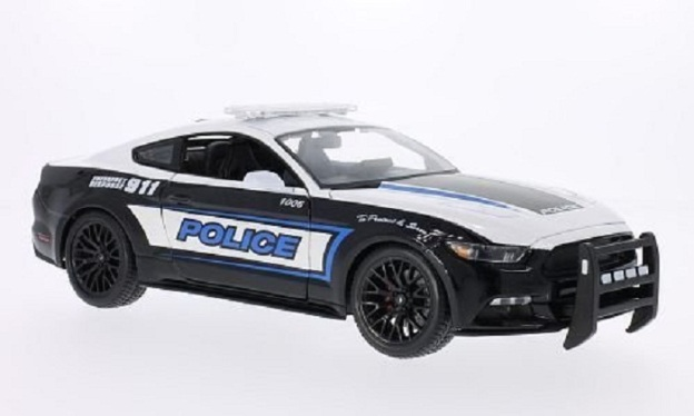 2015 Ford Mustang GT Police 1:18 Diecast Car by Maisto
