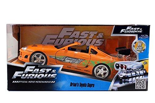 Fast & Furious 1:24 Diecast Toyota Supra Diecast Cars by Jada