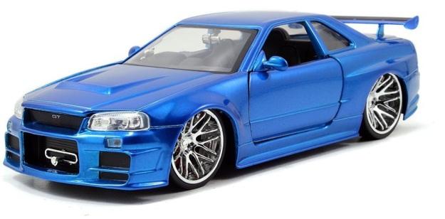 Fast & Furious Nissan GT R R34 Blue 1:24 Scale Diecast Cars
