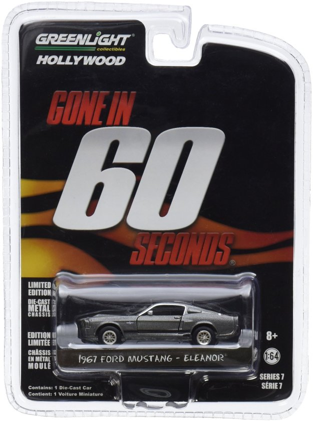 "Gone in 60 Sixty Seconds (2000) ""Eleanor"" 1967 Ford Mustang Shelby GT500 1/64 Diecast Cars by Greenlight"