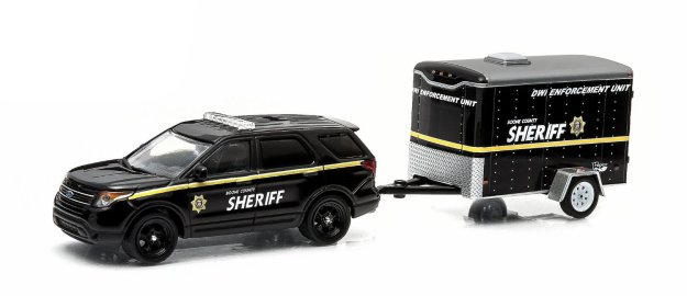 Greenlight Hitch & Tow Series: 2012 Ford Police Interceptor Utility Boone County, Missouri 1:64 Diecast Cars