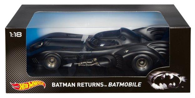 Hot Wheels Collector Batman Returns Batmobile 1:18 Scale Diecast Cars