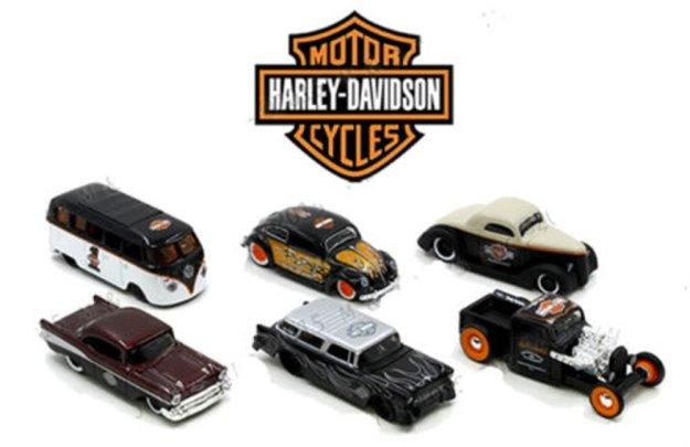 Maisto 1/64 Set Of 6 Harley Davidson Diecast Cars
