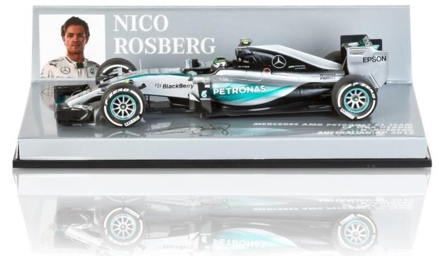 Mercedes AMG Petronas W06 Hybrid Nico Rosberg Australia F1 GP 2015 1:43 Scale Diecast Car