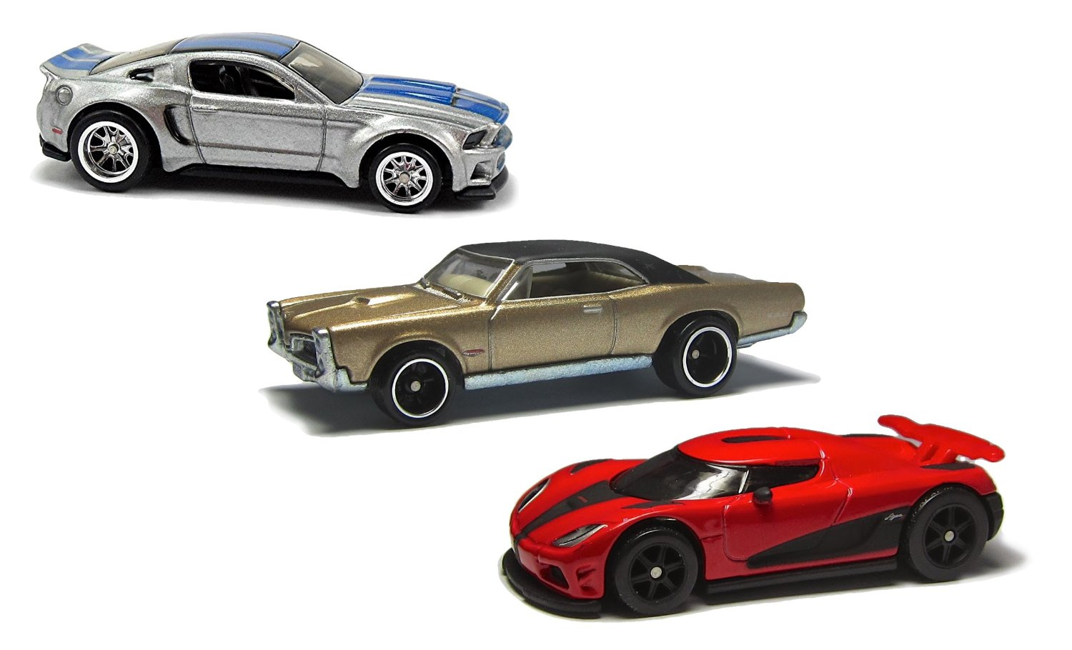 Need For Speed Hot Wheels 3 Car Set Pontiac Gto Mustang And