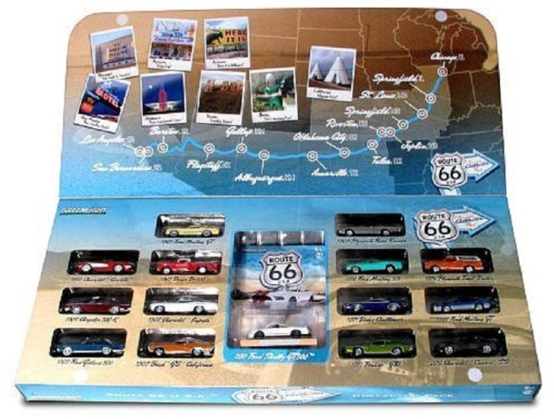 Route 66 1:64 Scale Die-Cast 15-Piece Vehicle Set by GreenLight