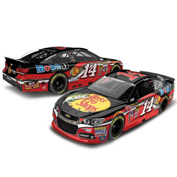 Tony Stewart Action Racing 2015 #14 Bass Pro Shops 1:24 Scale Color Chrome Die-Cast Chevrolet SS