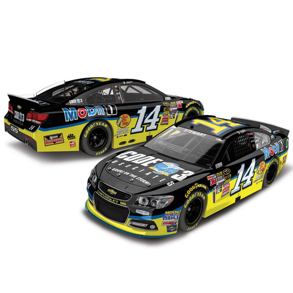 Tony Stewart Action Racing 2015 #14 Code 3 1:24 Scale Platinum Die-Cast Chevrolet SS