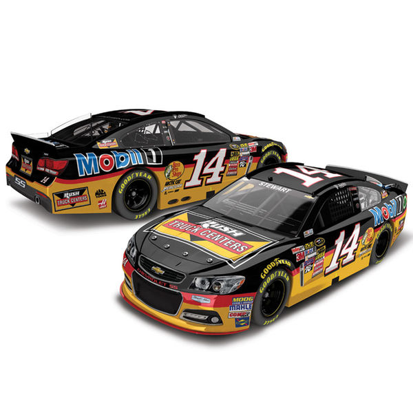 Tony Stewart Action Racing 2015 #14 Rush Truck Centers 1:24 Scale Platinum Die-Cast Chevrolet SS