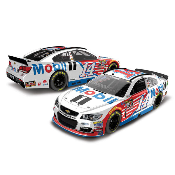 Tony Stewart Action Racing 2016 #14 Mobil 1 1:24 Color Chrome Die-Cast Chevrolet SS