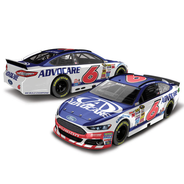 Trevor Bayne Action Racing 2015 #6 AdvoCare 1:24 Scale Ford Fusion Diecast Car