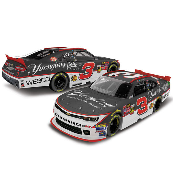 Ty Dillon Action Racing 2015 #3 Yuengling Light Lager 1:24 Scale Platinum Die-Cast Chevrolet Camaro