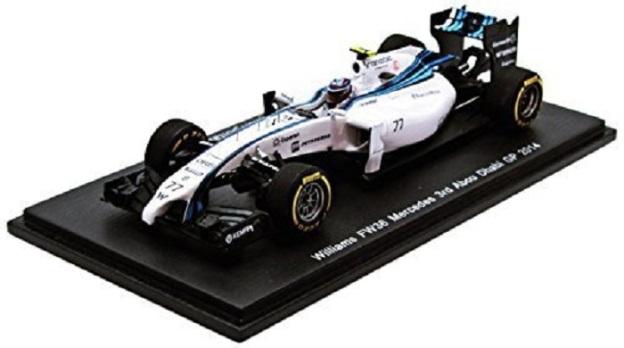 Williams FW36 3rd Abu Dhabi F-1 GP 2014 Valtteri Bottas 1/43 Scale Diecast by Spark
