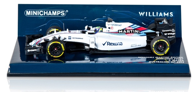 Williams Martini Racing Mercedes FW37 Felipe Massa 2015 Model 1:43 Scale Diecast Car