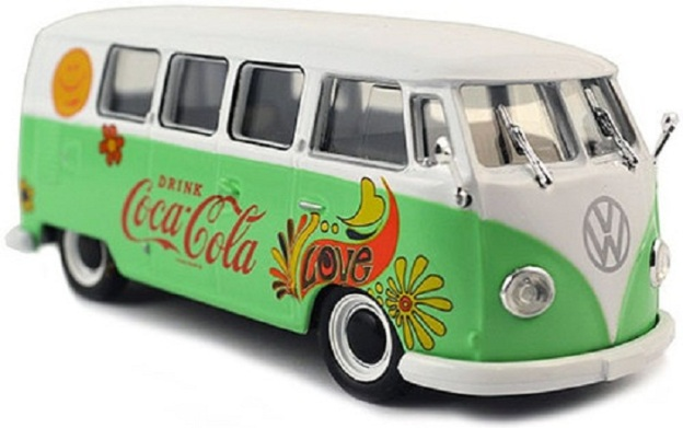1959 Coca Cola VW T1 Samba Bus Flower Version Green Motor City Classics