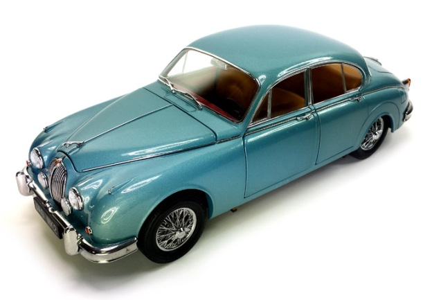 1962 Jaguar MK II 3.8 Blue Diecast by Paragon Models