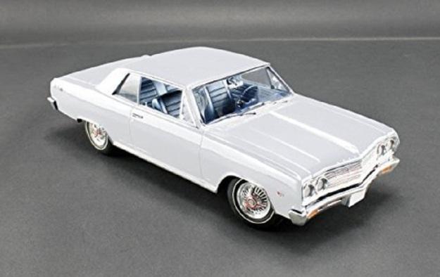 1965 Chevrolet Chevelle Malibu SS L79 Ermine White Diecast Car by Acme