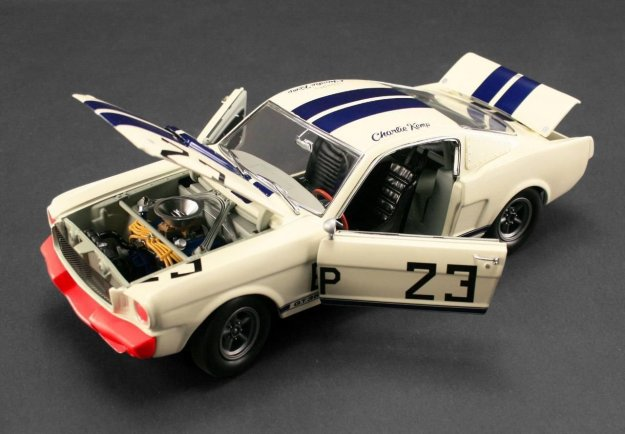 1965 Ford Shelby Mustang GT350 R #23 Charlie Kemp The Winningest Shelby Diecast by Acme