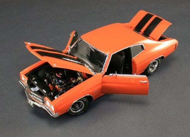 1970 Chevrolet Chevelle SS 454 LS6 Orange 1/18 Diecast by Acme