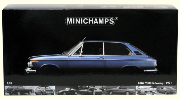 1971 BMW 2000 TII Touring Blue by Minichamps