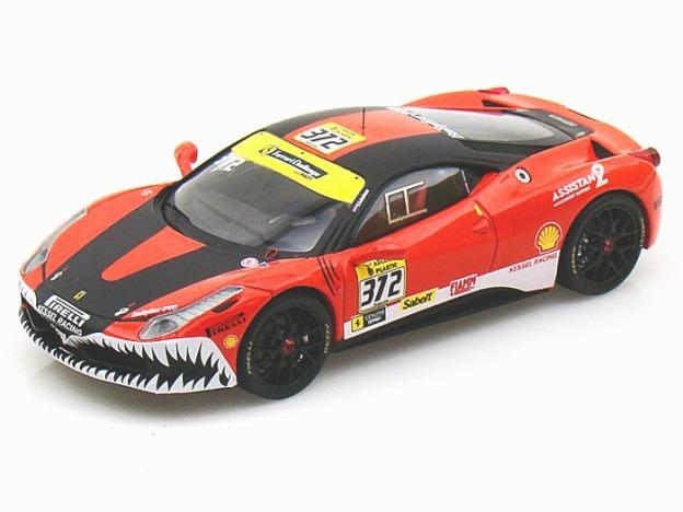 Ferrari 458 Kessel Racing LM 2011 Elite 1/43 Red/Black by Hot Wheels